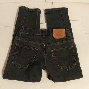 Levi's 511 slim black jeans boys sz 8 Reg